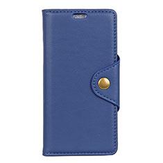 Funda de Cuero Cartera con Soporte Carcasa L02 para HTC U12 Life Azul