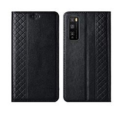 Funda de Cuero Cartera con Soporte Carcasa L02 para Huawei Enjoy 20 Pro 5G Negro