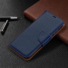 Funda de Cuero Cartera con Soporte Carcasa L02 para Huawei Honor 9A Azul