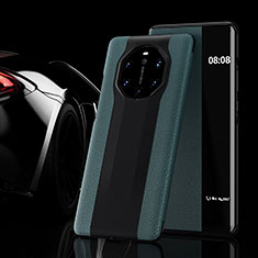 Funda de Cuero Cartera con Soporte Carcasa L02 para Huawei Mate 40 RS Verde Noche
