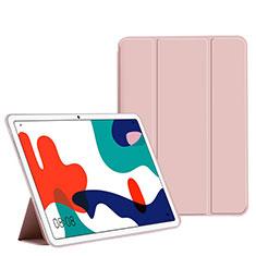 Funda de Cuero Cartera con Soporte Carcasa L02 para Huawei MatePad 10.4 Rosa