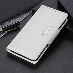 Funda de Cuero Cartera con Soporte Carcasa L02 para Huawei Y5p Blanco