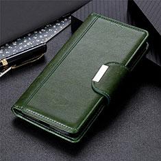 Funda de Cuero Cartera con Soporte Carcasa L02 para Huawei Y5p Verde