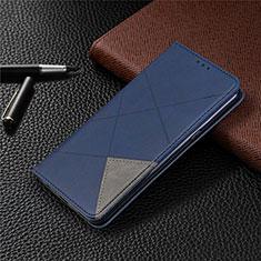 Funda de Cuero Cartera con Soporte Carcasa L02 para LG K61 Azul