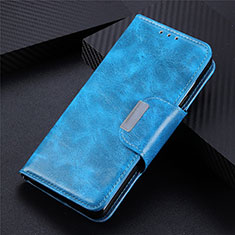 Funda de Cuero Cartera con Soporte Carcasa L02 para LG Q52 Azul Cielo