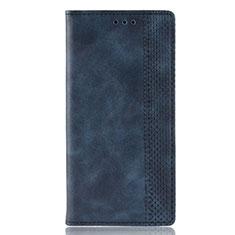 Funda de Cuero Cartera con Soporte Carcasa L02 para Motorola Moto Edge Plus Azul