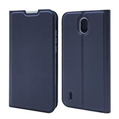 Funda de Cuero Cartera con Soporte Carcasa L02 para Nokia 1.3 Azul