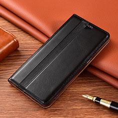 Funda de Cuero Cartera con Soporte Carcasa L02 para Nokia 2.4 Negro