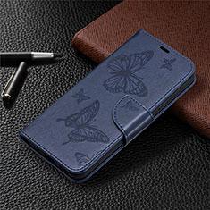 Funda de Cuero Cartera con Soporte Carcasa L02 para Nokia 3.4 Azul