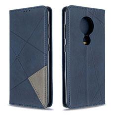 Funda de Cuero Cartera con Soporte Carcasa L02 para Nokia 6.2 Azul