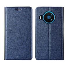 Funda de Cuero Cartera con Soporte Carcasa L02 para Nokia 8.3 5G Azul