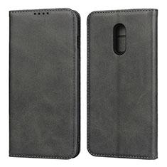 Funda de Cuero Cartera con Soporte Carcasa L02 para OnePlus 7 Negro