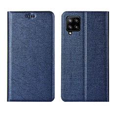 Funda de Cuero Cartera con Soporte Carcasa L02 para Samsung Galaxy A42 5G Azul