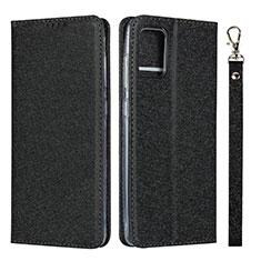 Funda de Cuero Cartera con Soporte Carcasa L02 para Samsung Galaxy A51 4G Negro