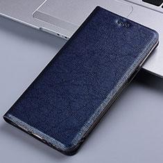 Funda de Cuero Cartera con Soporte Carcasa L02 para Samsung Galaxy A81 Azul