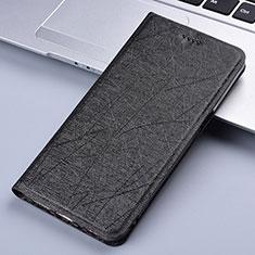 Funda de Cuero Cartera con Soporte Carcasa L02 para Samsung Galaxy A81 Negro