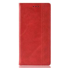 Funda de Cuero Cartera con Soporte Carcasa L02 para Samsung Galaxy M21 Rojo