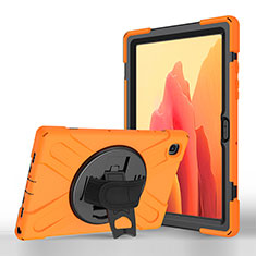 Funda de Cuero Cartera con Soporte Carcasa L02 para Samsung Galaxy Tab A7 4G 10.4 SM-T505 Naranja