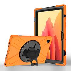 Funda de Cuero Cartera con Soporte Carcasa L02 para Samsung Galaxy Tab A7 Wi-Fi 10.4 SM-T500 Naranja