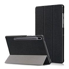 Funda de Cuero Cartera con Soporte Carcasa L02 para Samsung Galaxy Tab S6 10.5 SM-T860 Negro