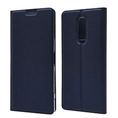 Funda de Cuero Cartera con Soporte Carcasa L02 para Sony Xperia 1 Azul