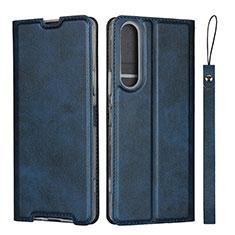 Funda de Cuero Cartera con Soporte Carcasa L02 para Sony Xperia 1 II Azul
