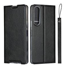 Funda de Cuero Cartera con Soporte Carcasa L02 para Sony Xperia 1 II Negro