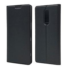 Funda de Cuero Cartera con Soporte Carcasa L02 para Sony Xperia 1 Negro