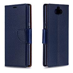 Funda de Cuero Cartera con Soporte Carcasa L02 para Sony Xperia 10 Azul