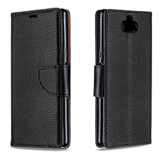 Funda de Cuero Cartera con Soporte Carcasa L02 para Sony Xperia 10 Negro