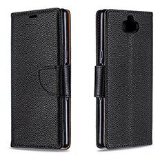 Funda de Cuero Cartera con Soporte Carcasa L02 para Sony Xperia 10 Plus Negro