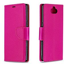 Funda de Cuero Cartera con Soporte Carcasa L02 para Sony Xperia 10 Rojo