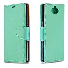 Funda de Cuero Cartera con Soporte Carcasa L02 para Sony Xperia 10 Verde