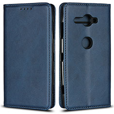 Funda de Cuero Cartera con Soporte Carcasa L02 para Sony Xperia XZ2 Compact Azul