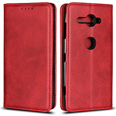 Funda de Cuero Cartera con Soporte Carcasa L02 para Sony Xperia XZ2 Compact Rojo