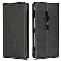 Funda de Cuero Cartera con Soporte Carcasa L02 para Sony Xperia XZ2 Negro
