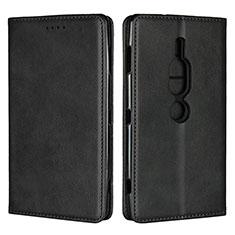 Funda de Cuero Cartera con Soporte Carcasa L02 para Sony Xperia XZ2 Premium Negro