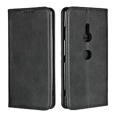 Funda de Cuero Cartera con Soporte Carcasa L02 para Sony Xperia XZ3 Negro