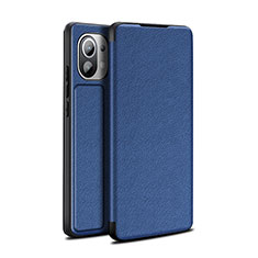 Funda de Cuero Cartera con Soporte Carcasa L02 para Xiaomi Mi 11 5G Azul