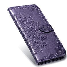 Funda de Cuero Cartera con Soporte Carcasa L02 para Xiaomi Mi Note 10 Lite Morado