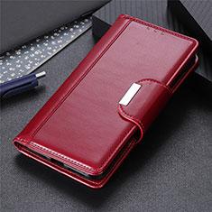 Funda de Cuero Cartera con Soporte Carcasa L02 para Xiaomi Redmi 9i Rojo Rosa