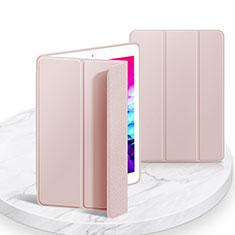 Funda de Cuero Cartera con Soporte Carcasa L03 para Apple iPad 10.2 (2020) Rosa