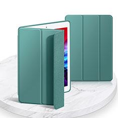 Funda de Cuero Cartera con Soporte Carcasa L03 para Apple iPad 10.2 (2020) Verde Noche