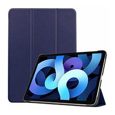 Funda de Cuero Cartera con Soporte Carcasa L03 para Apple iPad Air 4 10.9 (2020) Azul Real
