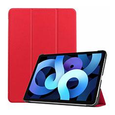Funda de Cuero Cartera con Soporte Carcasa L03 para Apple iPad Air 4 10.9 (2020) Rojo