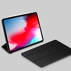 Funda de Cuero Cartera con Soporte Carcasa L03 para Apple iPad Pro 11 (2018) Negro