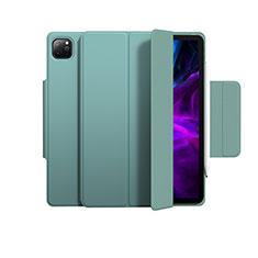 Funda de Cuero Cartera con Soporte Carcasa L03 para Apple iPad Pro 12.9 (2020) Verde