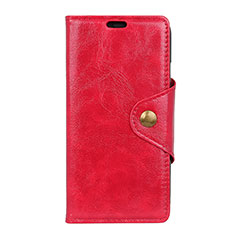 Funda de Cuero Cartera con Soporte Carcasa L03 para Asus Zenfone 5 Lite ZC600KL Rojo