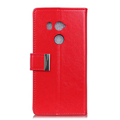 Funda de Cuero Cartera con Soporte Carcasa L03 para HTC U11 Eyes Rojo