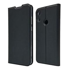 Funda de Cuero Cartera con Soporte Carcasa L03 para Huawei Honor 8A Negro